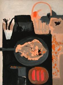 Margaret Mellis WomanAndFish II oil on canvas 1957