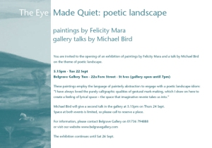 The Eye Made Quiet: poetic landscape
