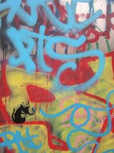 Graffiti at St Ives skate park
