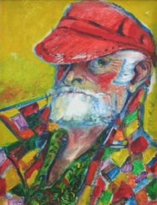 Sven Berlin - Self Portrait In A Red Cap 1987