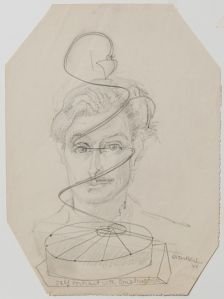 Sven Berlin 'Self Portrait' 1942 - currently on show at Tate St Ives