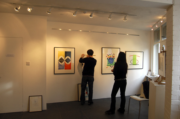 Hanging the Terry Frost Print Retrospective