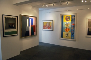 The highlight, Paul Huxley's Untitled No. 195, framed by a Denny on the left, and a Williams and Frost on the right.
