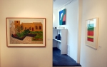 Bryan Pearce and Patrick Heron frame the side gallery