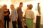 John Emanuel and guests in the gallery