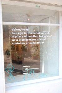 Window Words by John Charles Clark, Neon by Peter Freeman