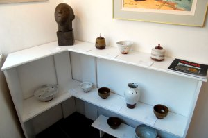 Sculpture by Marvell, Ceramics by Tim Lake