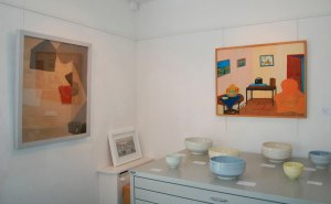 Francis Davison, Bob Bourne and Rebecca Harvey ceramics