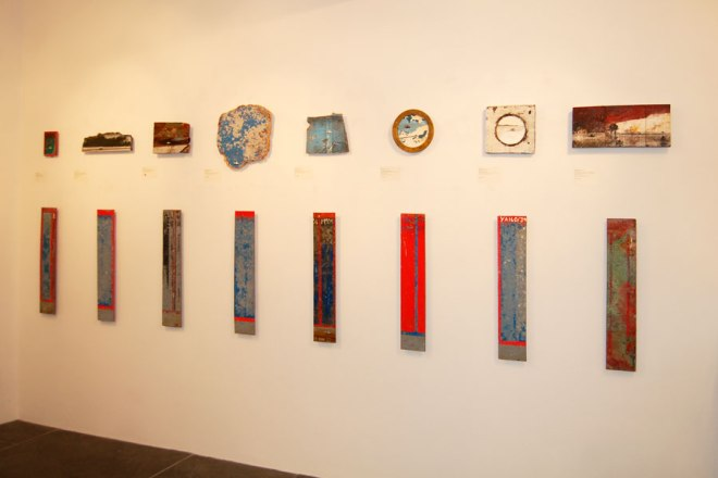 The voyage unfolds in an anti-clockwise direction around the gallery, starting here...